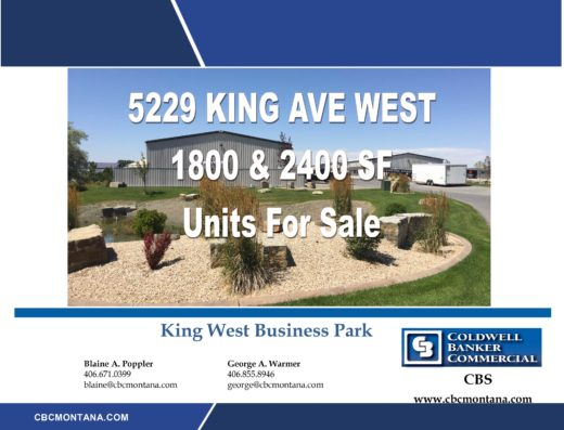 5229 King Ave West. Units For Lease. 1,800 SF $,162.50 Per Month. 2,400 SF $1,1550 Per Month